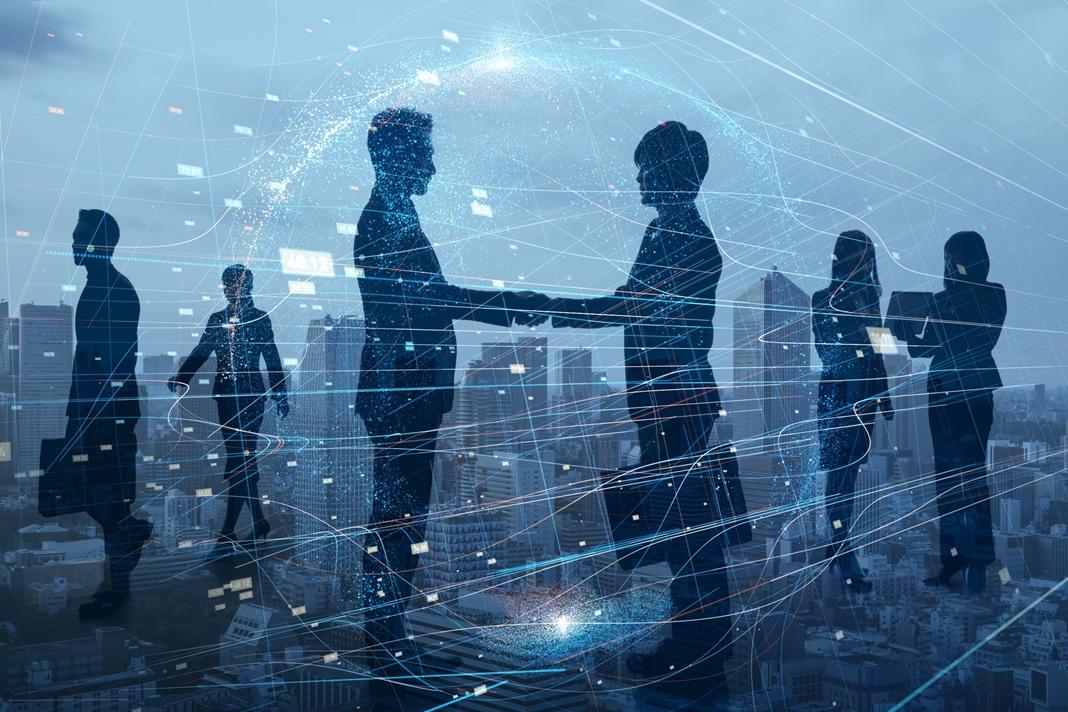 Spotkania biznesowe online podczas międzynarodowego